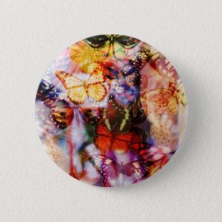 Badge Rond 5 Cm Bouton de papillon