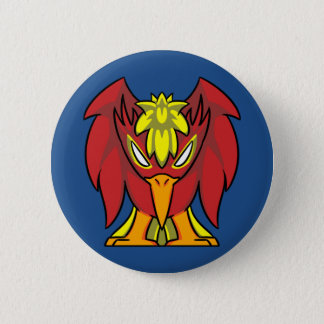 Badge Rond 5 Cm Bouton de Phoenix