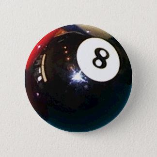 Badge Rond 5 Cm bouton de Pin d'insigne de boule de piscine 8-Ball