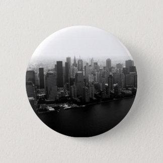 Badge Rond 5 Cm Bouton de Pinback d'horizon de New York