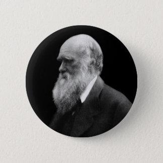 Badge Rond 5 Cm Bouton de portrait de Darwin
