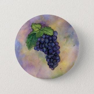 Badge Rond 5 Cm Bouton de raisins de cuve de pinot noir