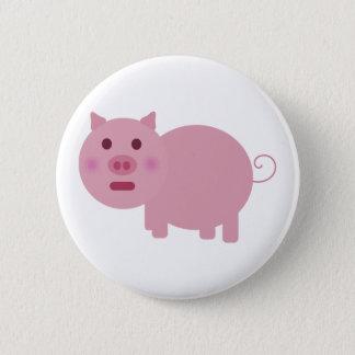 Badge Rond 5 Cm Bouton de revers timide de porc