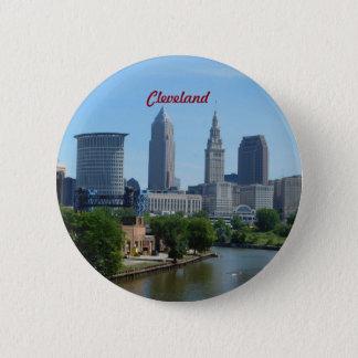 Badge Rond 5 Cm Bouton de rive de Cleveland OH