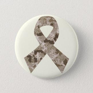 Badge Rond 5 Cm Bouton de ruban de camouflage de désert