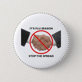 Badge Rond 5 Cm Bouton de saison de la grippe