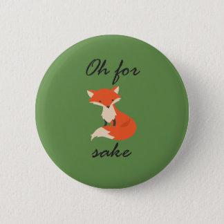 Badge Rond 5 Cm Bouton de saké de Fox