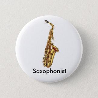 Badge Rond 5 Cm Bouton de saxophone