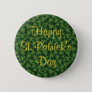 Badge Rond 5 Cm Bouton de shamrocks du jour de St Patrick heureux