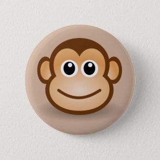 Badge Rond 5 Cm Bouton de sourire Animated de singe