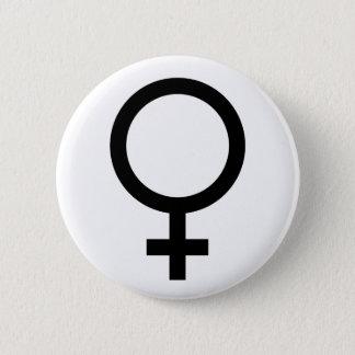 Badge Rond 5 Cm Bouton de symbole de femme