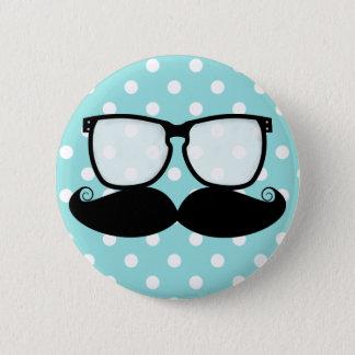 Badge Rond 5 Cm Bouton de talent de moustache