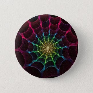 Badge Rond 5 Cm Bouton de toile d'araignée