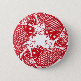 Badge Rond 5 Cm Bouton de tourbillonnement rouge du groupe R de