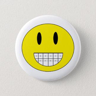 """Badge Rond 5 Cm Bouton """"de visage heureux de croisillons"""""""