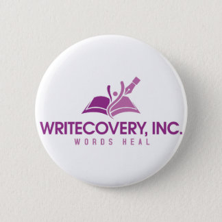 Badge Rond 5 Cm Bouton de Writecovery, Inc.