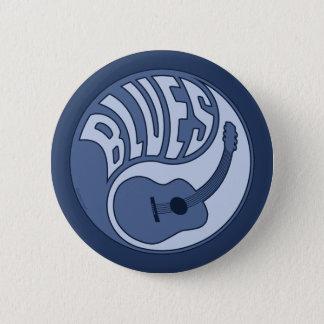 Badge Rond 5 Cm Bouton de Yin de guitare de bleus