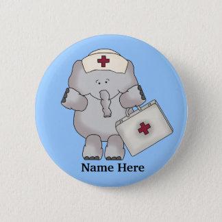 Badge Rond 5 Cm Bouton d'éléphant d'infirmière