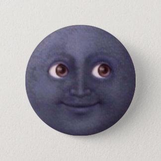 Badge Rond 5 Cm Bouton d'Emoji de lune