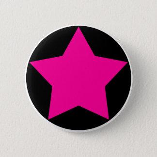 Badge Rond 5 Cm Bouton d'étoile d'Emo (rose)