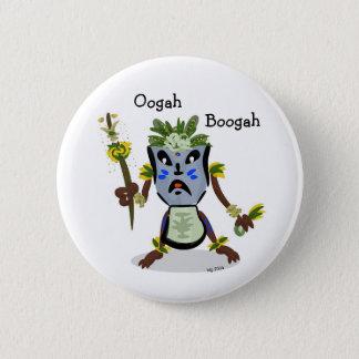 Badge Rond 5 Cm Bouton d'indigène de Tiki Hito