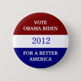 Badge Rond 5 Cm Bouton d'OBAMA BIDEN 2012