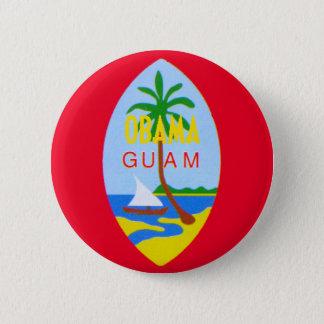 Badge Rond 5 Cm Bouton d'Obama GUAM