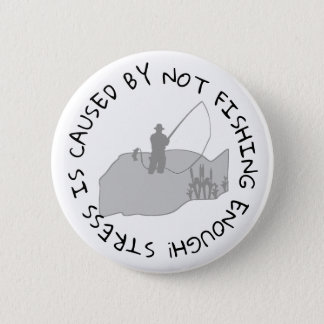 Badge Rond 5 Cm Bouton drôle de citation de pêche