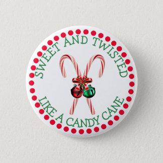 Badge Rond 5 Cm Bouton drôle de Noël