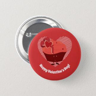 Badge Rond 5 Cm Bouton du caractère | de petit gâteau de Valentine