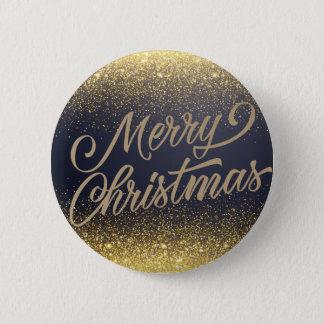 Badge Rond 5 Cm Bouton élégant de Pin de Noël | de parties