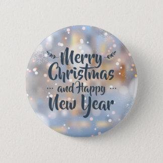 Badge Rond 5 Cm Bouton élégant de Pin de Noël et de la bonne année