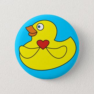 Badge Rond 5 Cm Bouton en caoutchouc de Pinback de canard de bande