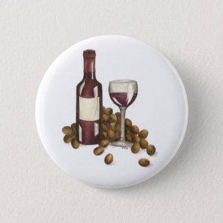 Badge Rond 5 Cm Bouton en verre merlot de raisins d'échantillon de