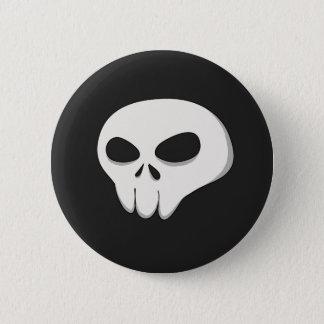 Badge Rond 5 Cm Bouton foncé de crâne