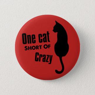 Badge Rond 5 Cm Bouton fou de Madame Funny Meow Standard Round de