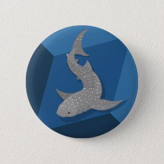 Badge Rond 5 Cm Bouton géométrique d'art de vecteur de requin de