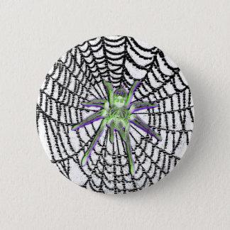 Badge Rond 5 Cm Bouton gothique d'araignée en verre
