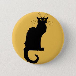 Badge Rond 5 Cm bouton grognon de jaune de chat