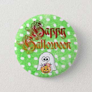 Badge Rond 5 Cm Bouton heureux de fantôme de Halloween