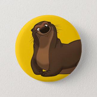 Badge Rond 5 Cm Bouton heureux de loutre