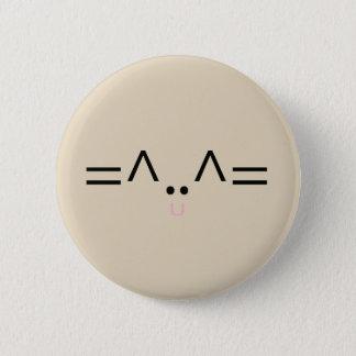 Badge Rond 5 Cm Bouton idiot de chat