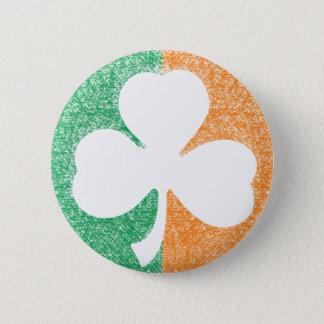 Badge Rond 5 Cm Bouton irlandais de coutume de shamrock
