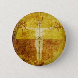 Badge Rond 5 Cm Bouton médiéval d'icône de Magik