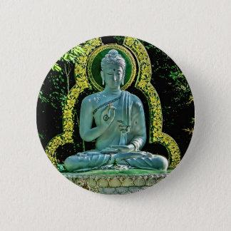 Badge Rond 5 Cm Bouton méditant de Bouddha