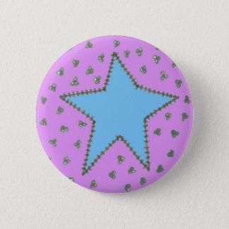 Badge Rond 5 Cm Bouton mignon d'étoile de pays