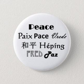 Badge Rond 5 Cm Bouton multi de paix de langue de Paz de paix