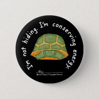Badge Rond 5 Cm Bouton noir de conservation d'énergie