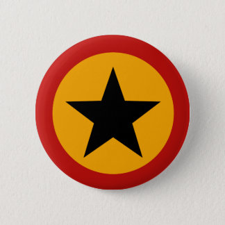 Badge Rond 5 Cm Bouton noir d'étoile