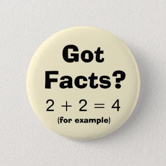 Badge Rond 5 Cm Bouton obtenu d'exemple de problème de maths de